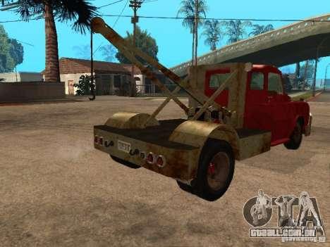 Caminhão Dodge é oxidado para GTA San Andreas vista traseira