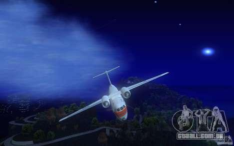Antonov 74 para GTA San Andreas vista interior
