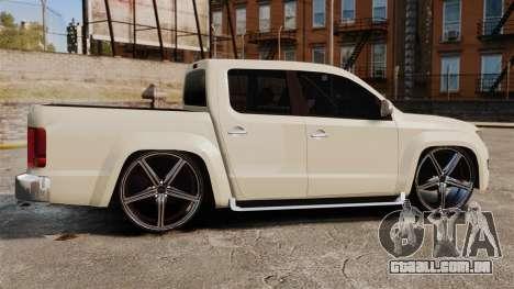 Volkswagen Amarok Light Tuning para GTA 4 esquerda vista