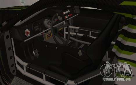 Ford Mustang GT Falken Monster 2010 v2.0 para GTA San Andreas vista traseira