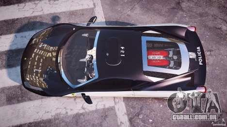 Ferrari 458 Italia - Brazilian Police [ELS] para GTA 4 vista direita