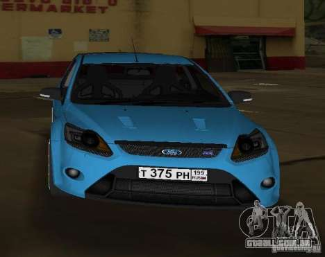Ford Focus RS 2009 para GTA Vice City vista direita