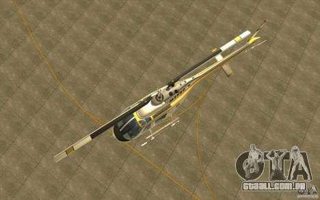 Bell 206 B Police texture4 para GTA San Andreas vista interior