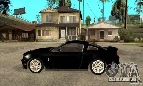 Ford Shelby GT 500 2010 para GTA San Andreas esquerda vista