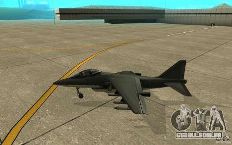 Real Hydra Skin para GTA San Andreas traseira esquerda vista