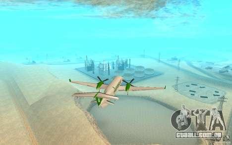 Beechcraft B1900D para GTA San Andreas traseira esquerda vista