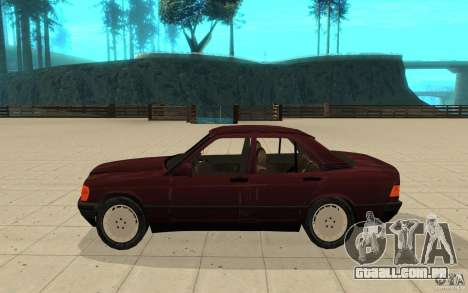 Mercedes-Benz 190 E (W201) 1984 version 1.0 para GTA San Andreas esquerda vista