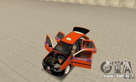 Volkswagen Gol G4 Taxi para GTA San Andreas vista traseira