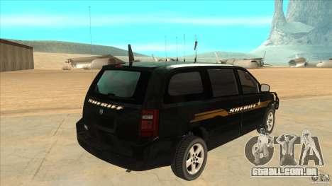 Dodge Caravan Sheriff 2008 para GTA San Andreas vista direita