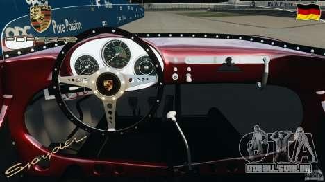 Porsche 550 A Spyder 1956 v1.0 para GTA 4 vista de volta