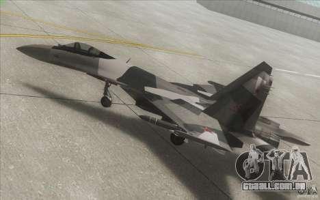 Su-35 BM v 2.0 para GTA San Andreas vista superior
