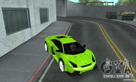 Lamborghini Murcielago Tuned para vista lateral GTA San Andreas