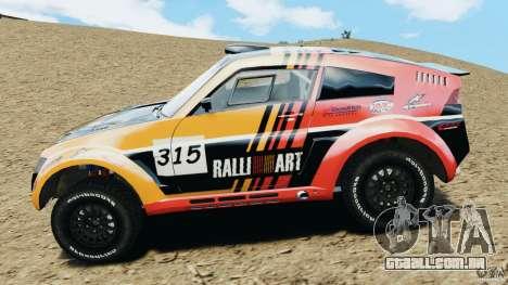 Mitsubishi Pajero Evolution MPR11 para GTA 4 esquerda vista