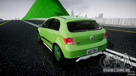 Volkswagen Gol Rallye 2012 v2.0 para GTA 4 traseira esquerda vista