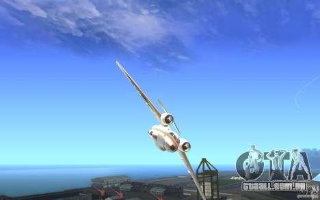Antonov 74 para GTA San Andreas vista direita