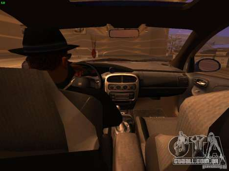 Dodge Neon SRT4 2006 para GTA San Andreas vista interior