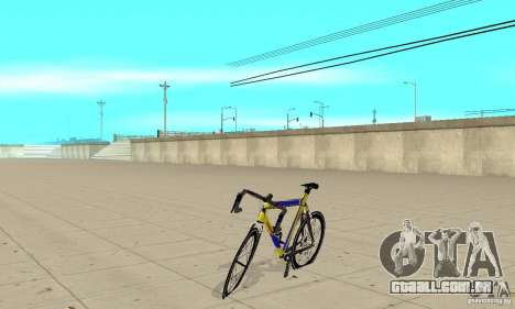 Racing Cycle Turmac Legnano para GTA San Andreas esquerda vista
