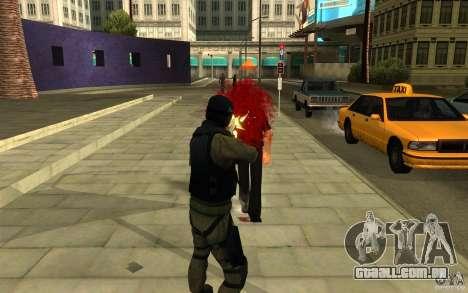 Forças especiais-CJ para GTA San Andreas quinto tela