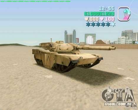 M 1 A2 Abrams para GTA San Andreas traseira esquerda vista