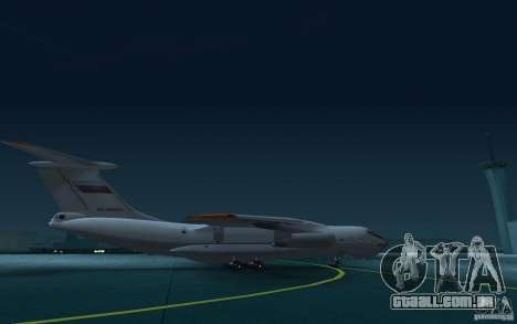 IL 78 petroleiro para GTA San Andreas vista traseira