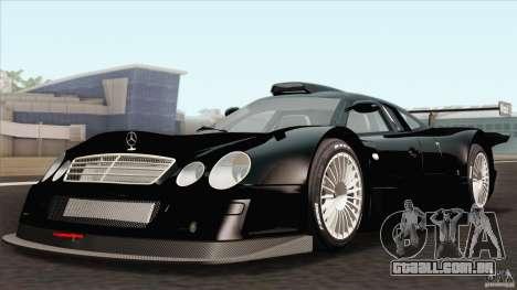 Mercedes-Benz CLK GTR Race Car para GTA San Andreas vista traseira