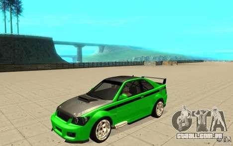 GTA IV Sultan RS FINAL para GTA San Andreas vista superior