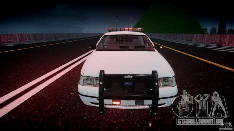 Ford Crown Victoria v2 NYPD [ELS] para GTA 4 vista inferior