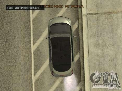 Renault Avantime para GTA San Andreas vista interior