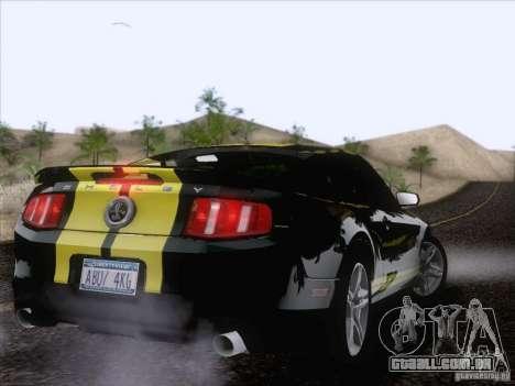 Ford Shelby Mustang GT500 2010 para GTA San Andreas vista superior