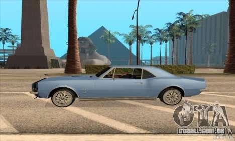 Chevrolet Camaro SS 1967 para GTA San Andreas traseira esquerda vista