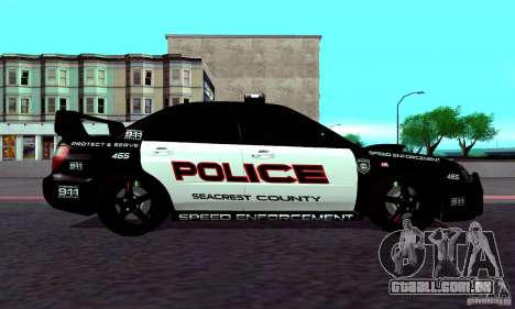 Subaru Impreza WRX STI Police Speed Enforcement para GTA San Andreas vista direita