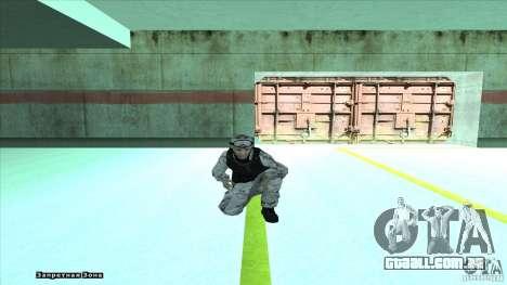 Army Soldier v2 para GTA San Andreas quinto tela