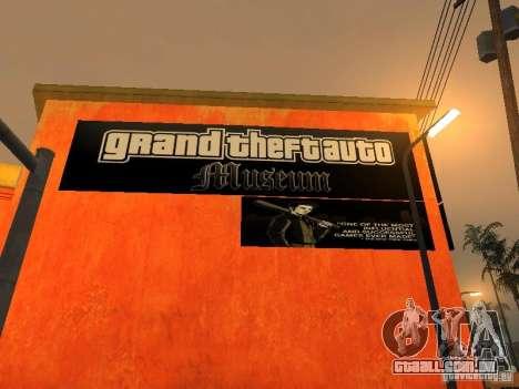 GTA Museum para GTA San Andreas segunda tela