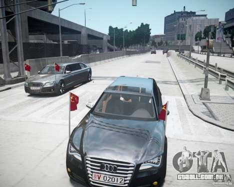 Audi A8 Limo para GTA 4 vista inferior