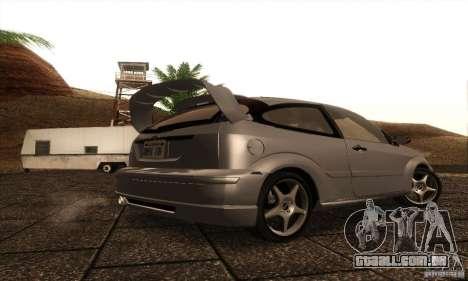 Ford Focus SVT TUNEABLE para GTA San Andreas vista direita
