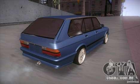 BMW E28 Touring para GTA San Andreas vista traseira