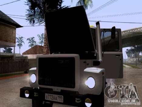 Caminhão de reboque de GAZ 3309 para vista lateral GTA San Andreas