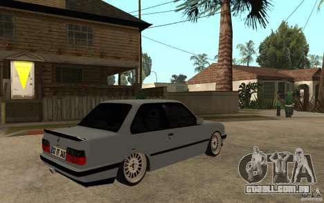BMW E30 CebeL Tuning para GTA San Andreas vista direita
