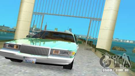 Lincoln Town Car 1997 para GTA Vice City vista traseira