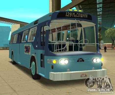 GMC Fishbowl City Bus 1976 para GTA San Andreas esquerda vista