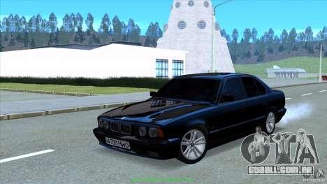BMW E34 V1.0 para GTA San Andreas vista traseira
