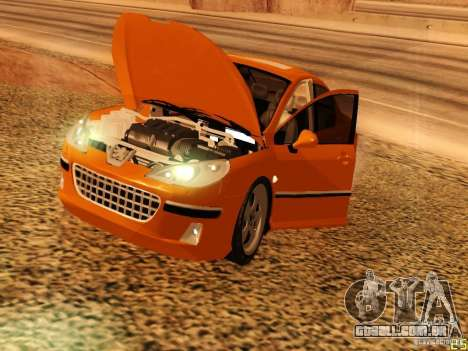 Peugeot 407 para GTA San Andreas vista traseira