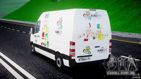 Mercedes-Benz Sprinter Euro 2012 para GTA 4 vista lateral