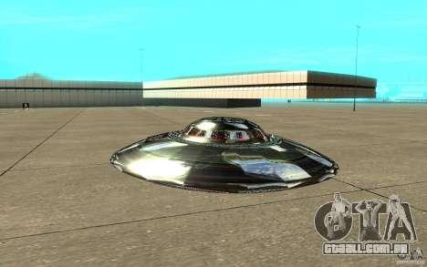 Real UFO para GTA San Andreas traseira esquerda vista