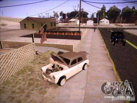 GAZ m 20 vencendo 1956 para GTA San Andreas vista superior