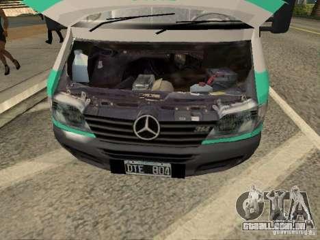 Mercedes Benz Sprinter SAME para GTA San Andreas vista direita