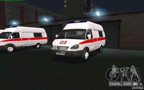 Ambulância de gazela 22172 para GTA San Andreas