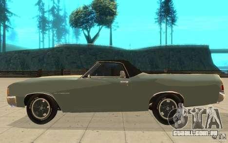 Chevrolet El Camino 1972 para GTA San Andreas esquerda vista