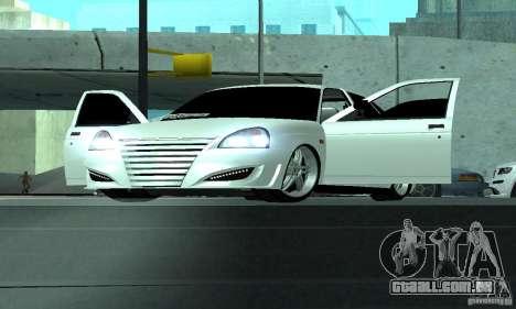 Lada Priora Sport para GTA San Andreas vista traseira