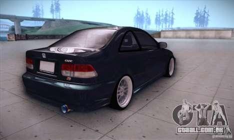 Honda Civic 6Gen para GTA San Andreas vista direita